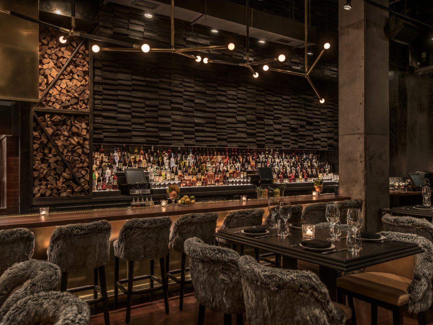 Food + Drink indoor Bar interior design meal restaurant