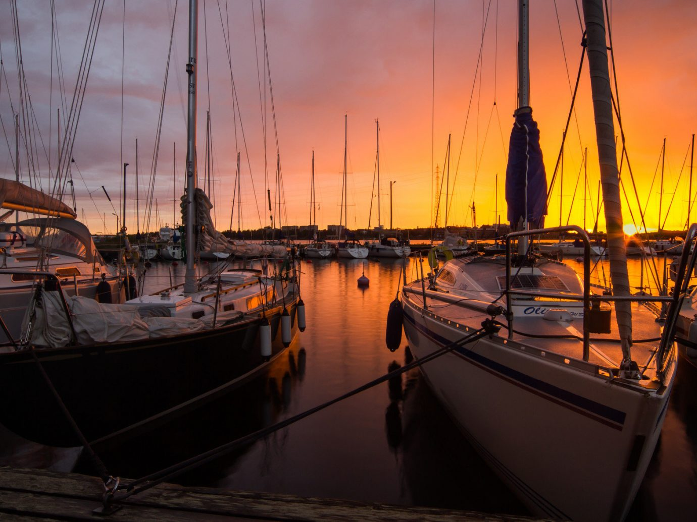 Trip Ideas Boat water sky outdoor reflection docked Sunset scene vehicle Harbor evening dock marina morning pier sailboat watercraft Sea dusk cloudy tied several