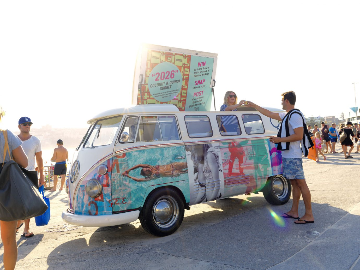 Trip Ideas outdoor sky car road person vehicle land vehicle mode of transport standing van transport vintage car automobile make people antique car volkswagen type 2