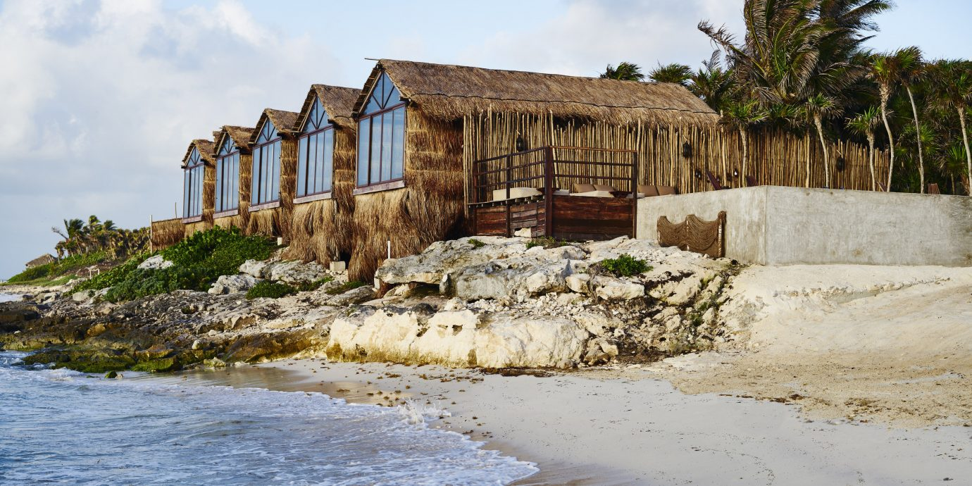 Boutique Hotels Mexico Tulum Sky Outdoor Body Of Water House Coast S Sea Wood