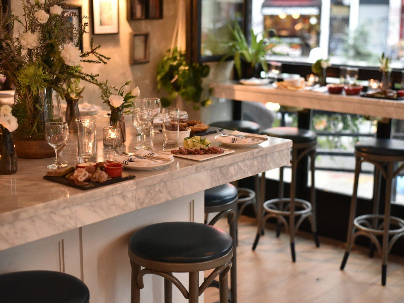 NYC Trip Ideas table indoor window floor restaurant furniture Dining brunch interior design dining room Bar meal dining table