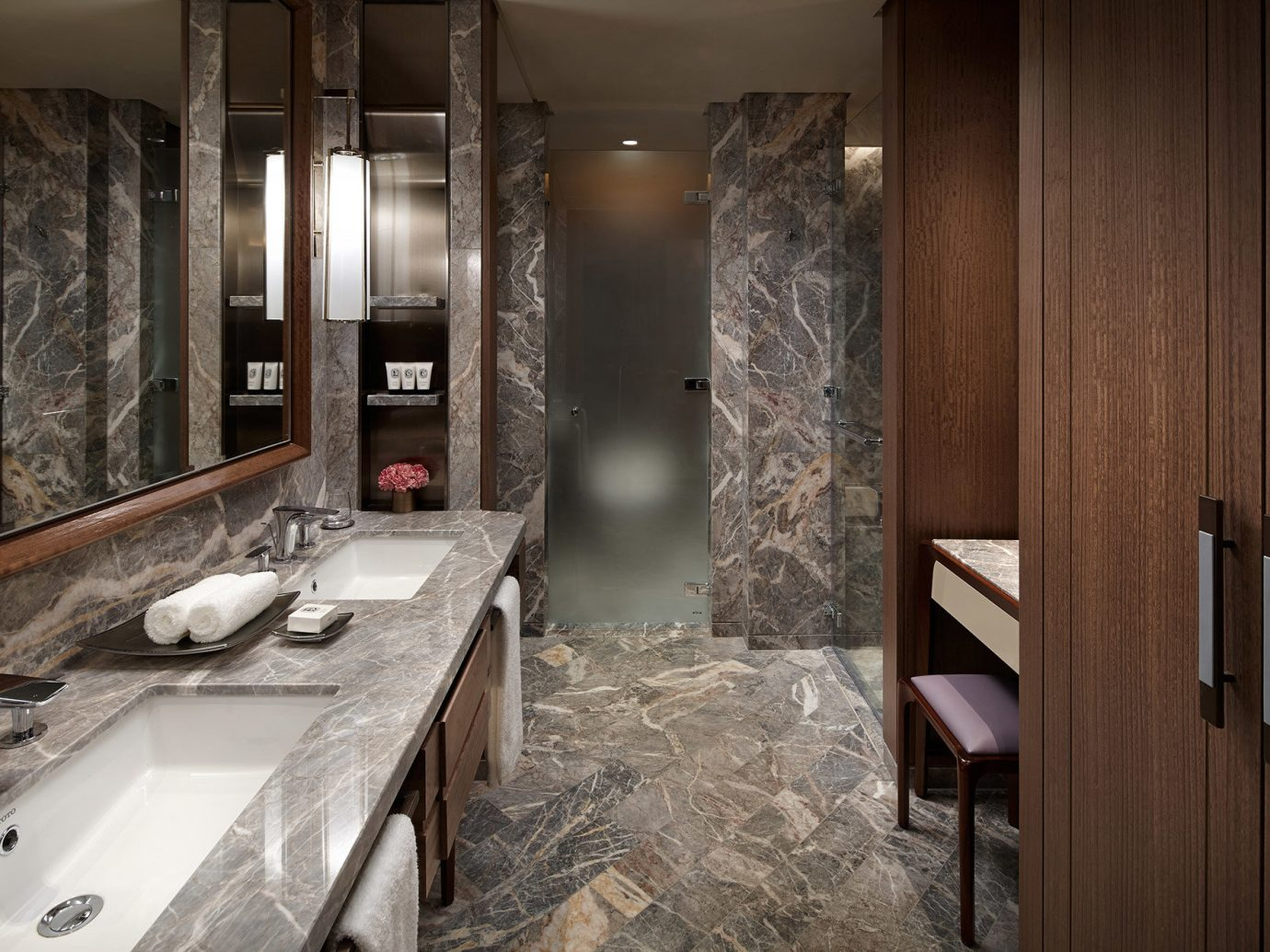 Hotels Luxury Travel indoor bathroom wall sink room countertop interior design flooring floor Bath basement bathtub