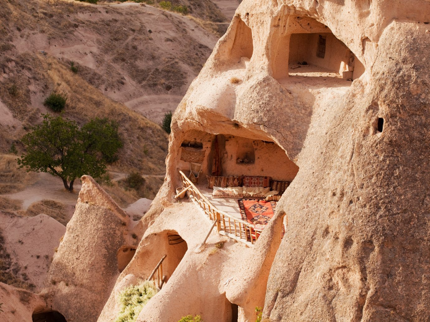 Offbeat mountain Nature rock wall ancient history cliff wadi temple sand travel stone