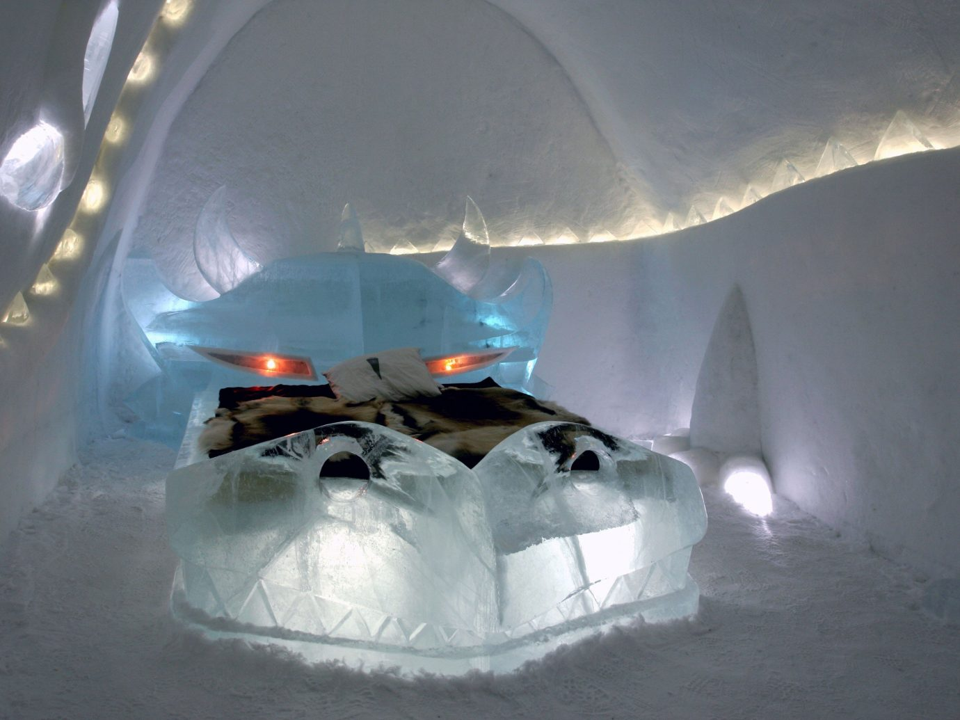 Trip Ideas snow weather light ice freezing igloo ice hotel screenshot blizzard melting