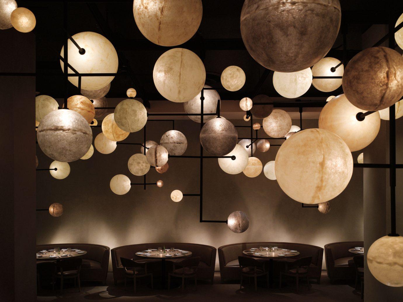 Food + Drink indoor lighting interior design Design lamp cooking cluttered several