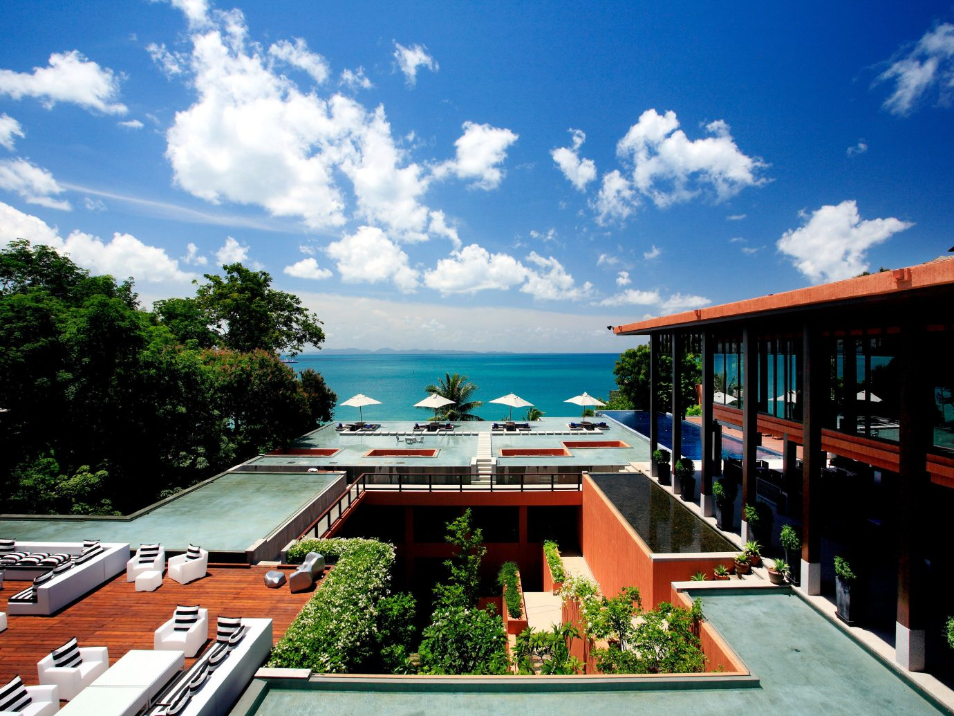 Beach Beachfront Exterior Hotels Ocean Phuket Resort Thailand sky outdoor tree property vacation estate real estate residential area home