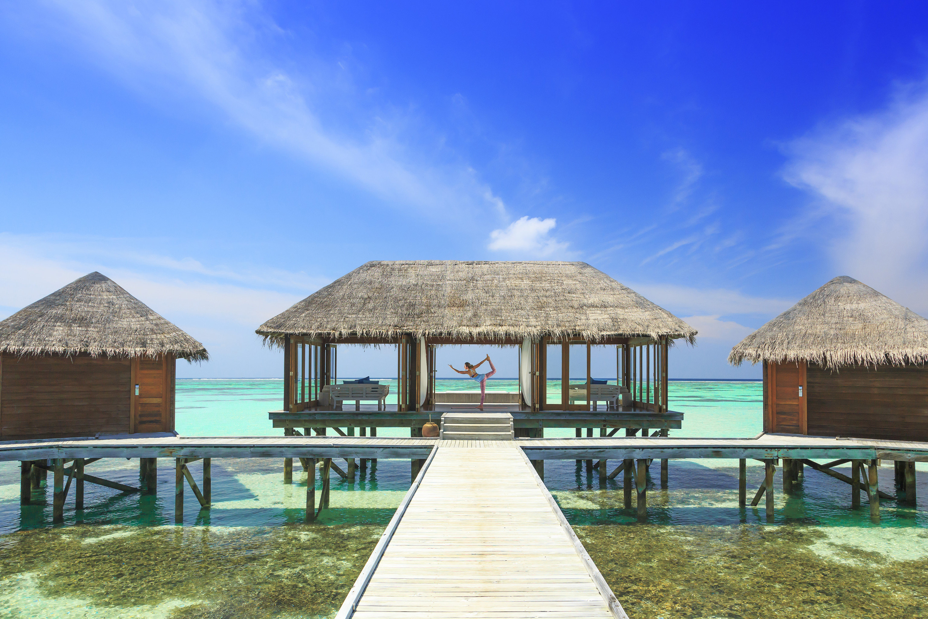 Hotels Trip Ideas outdoor sky ground wooden building house property Beach vacation Resort estate Sea Ocean hut Villa swimming pool cottage bay caribbean Island Lagoon wood shore