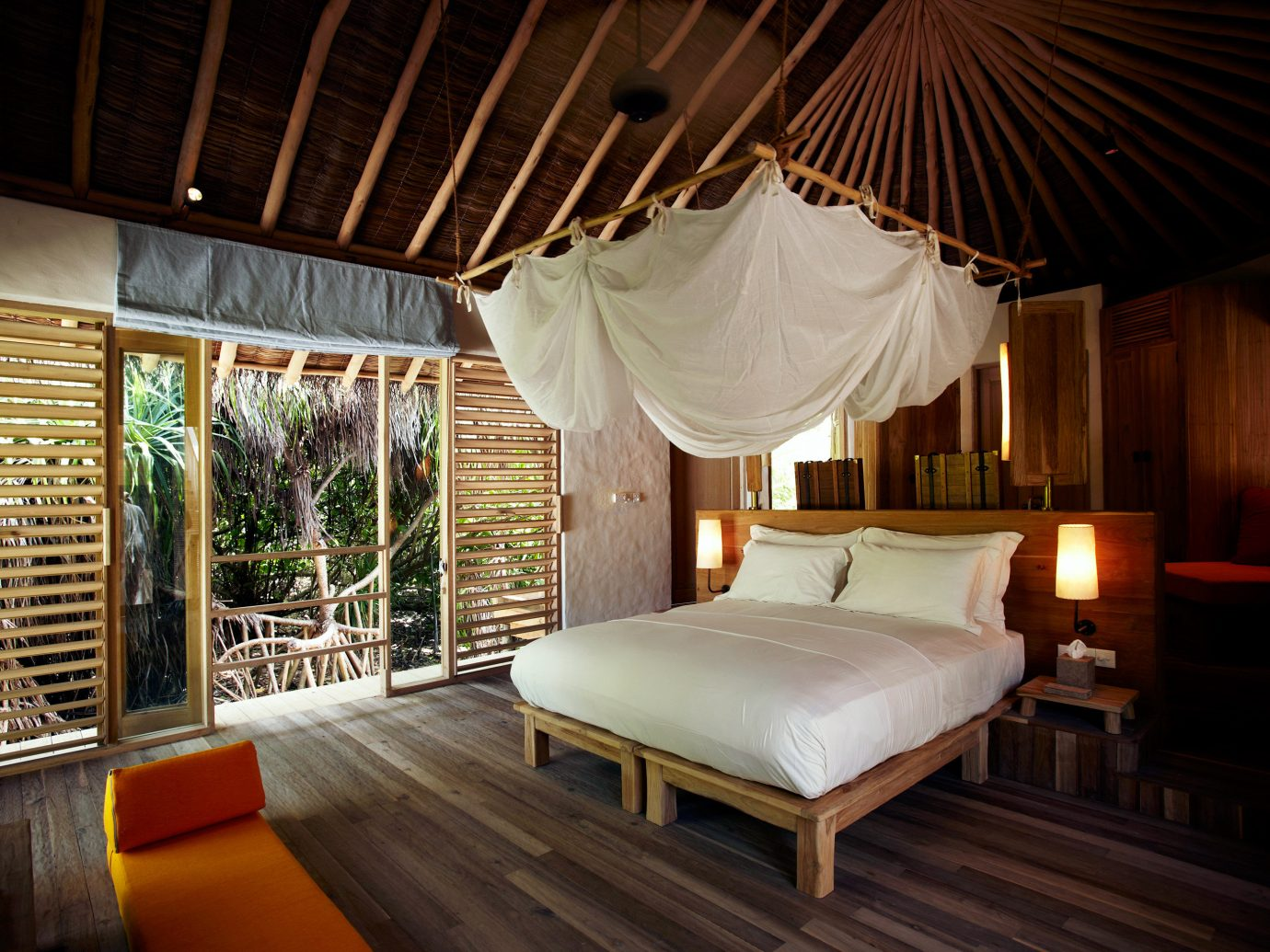 Bedroom at Six Senses Laamu