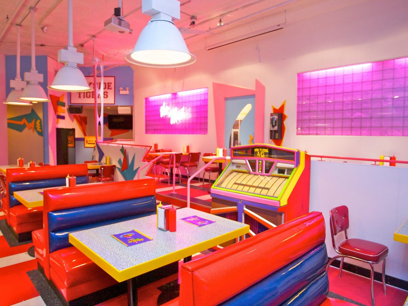 Summer Series indoor floor wall room red recreation room Play Resort interior design bed colorful furniture colored