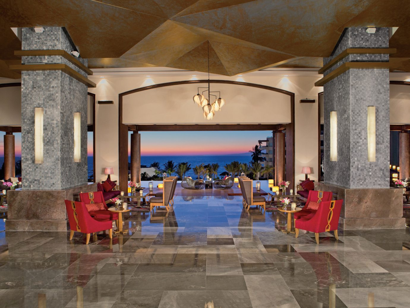 Hotels indoor Lobby ceiling interior design Resort restaurant leisure estate area