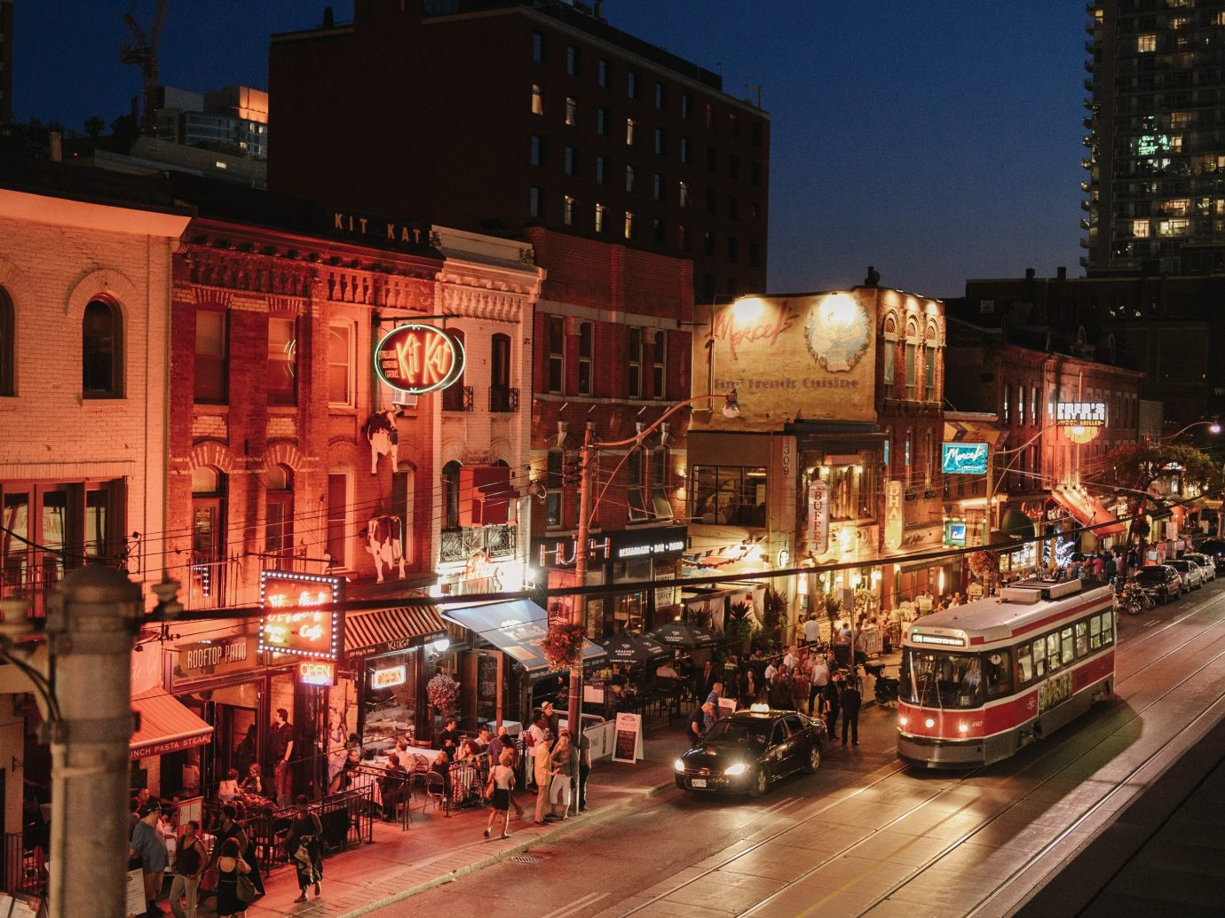 Canada Montreal Toronto Trip Ideas building outdoor road night Town City street urban area human settlement neighbourhood metropolis evening Downtown cityscape lighting infrastructure busy