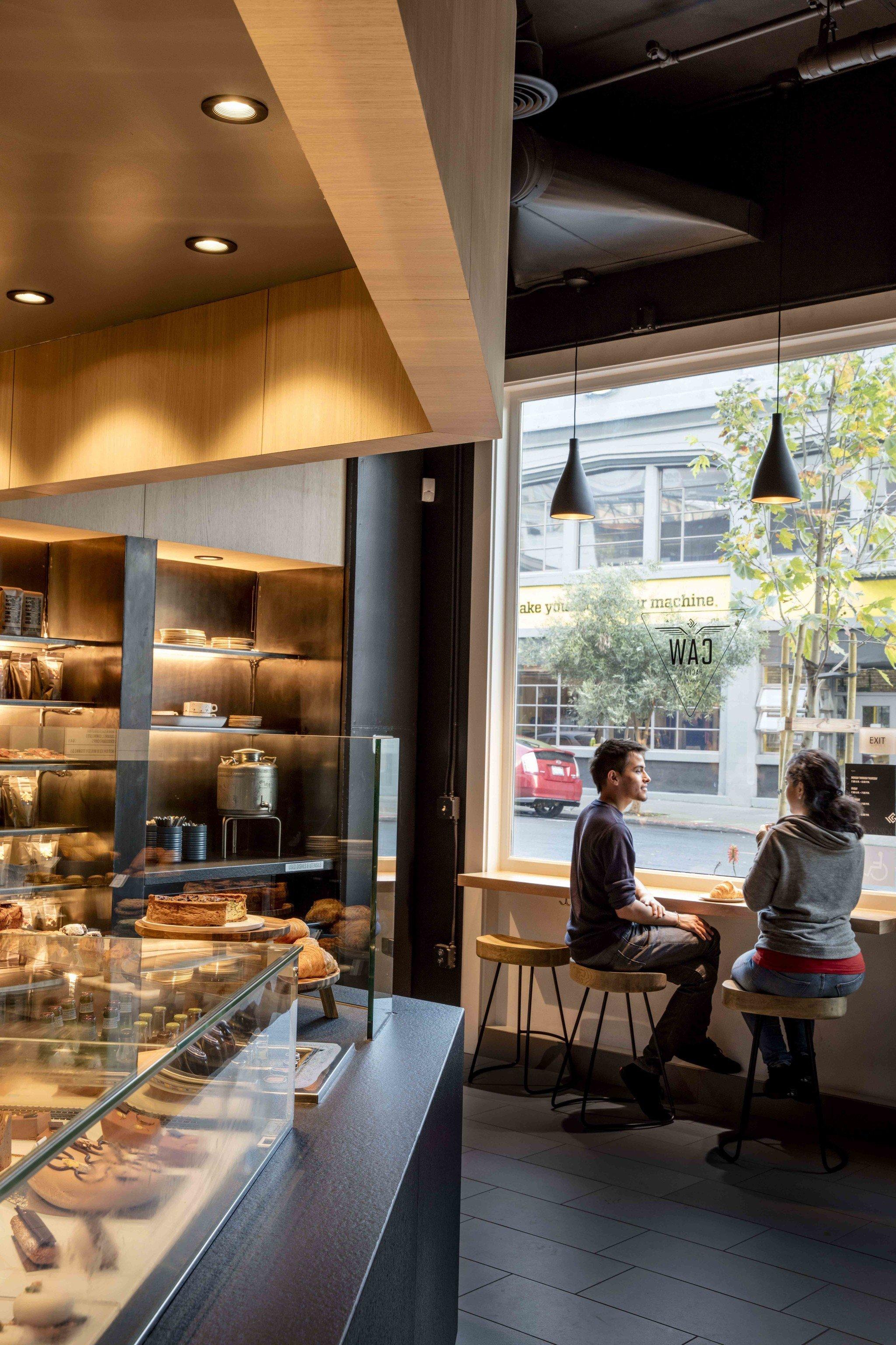 Food + Drink indoor Lobby interior design restaurant lighting Design window covering