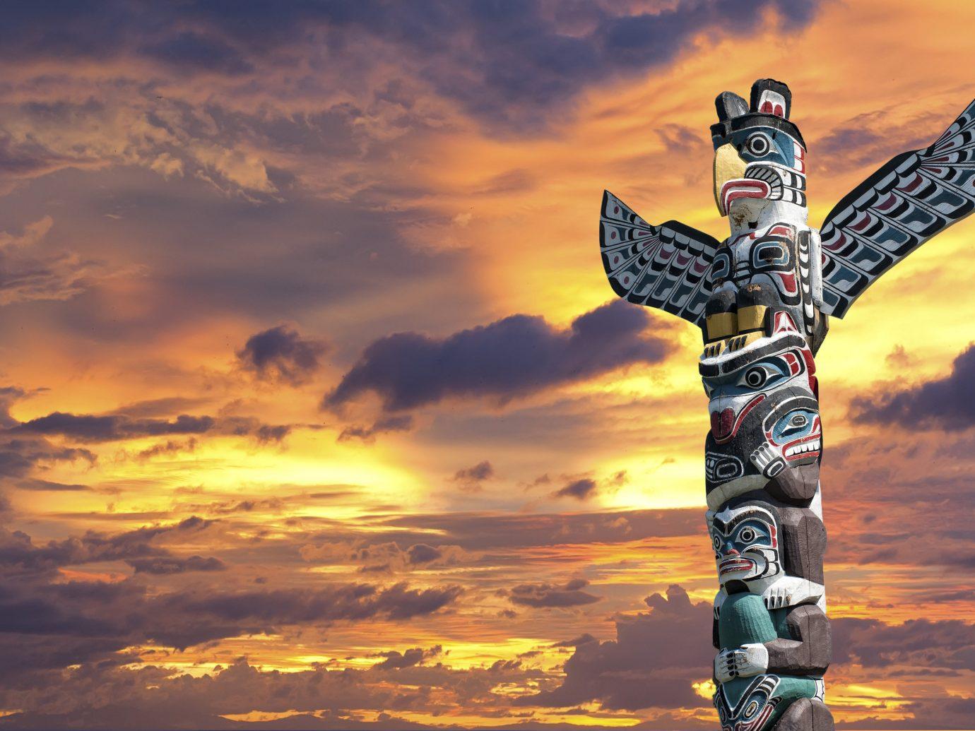 Trip Ideas sky outdoor object totem pole outdoor Sunset cloud cloudy clouds evening air sunrise dusk