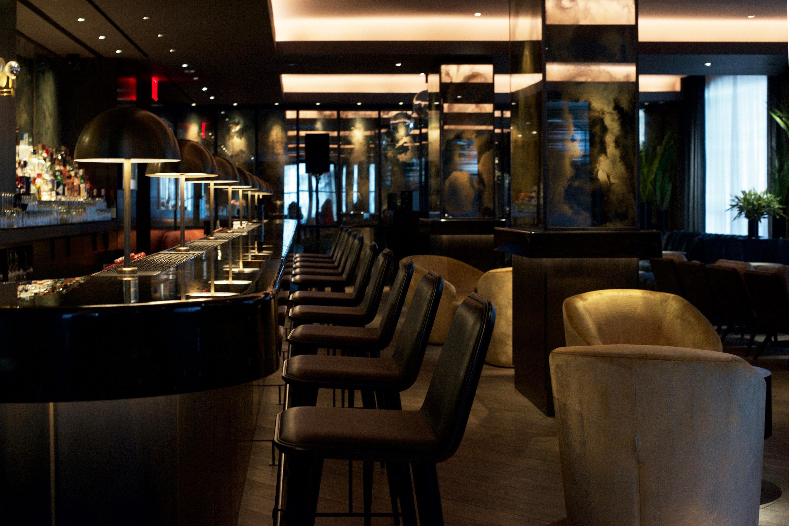 Hotels indoor room restaurant Bar ceiling interior design meal café