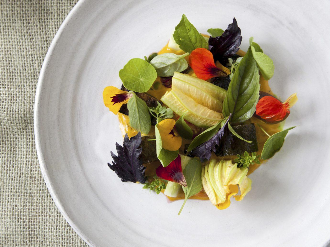 fancy fine dining food Food + Drink gourmet Luxury sophisticated plate dish produce salad plant vegetable land plant cuisine fruit flowering plant herb arranged sliced