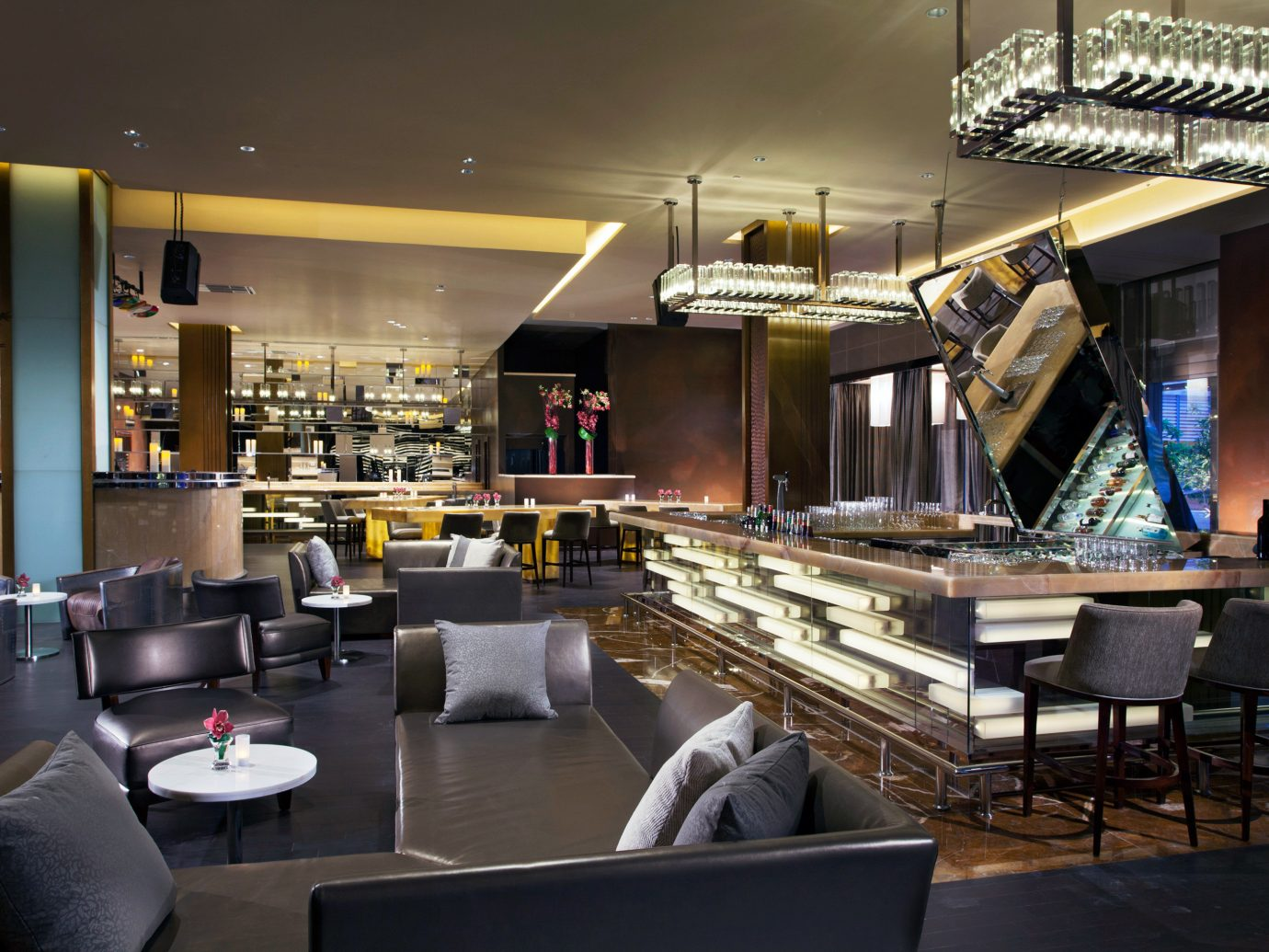 Bar Dining Drink Eat Hotels Living Lounge Luxury Modern Romantic indoor floor room ceiling restaurant interior design meal café furniture coffeehouse area several