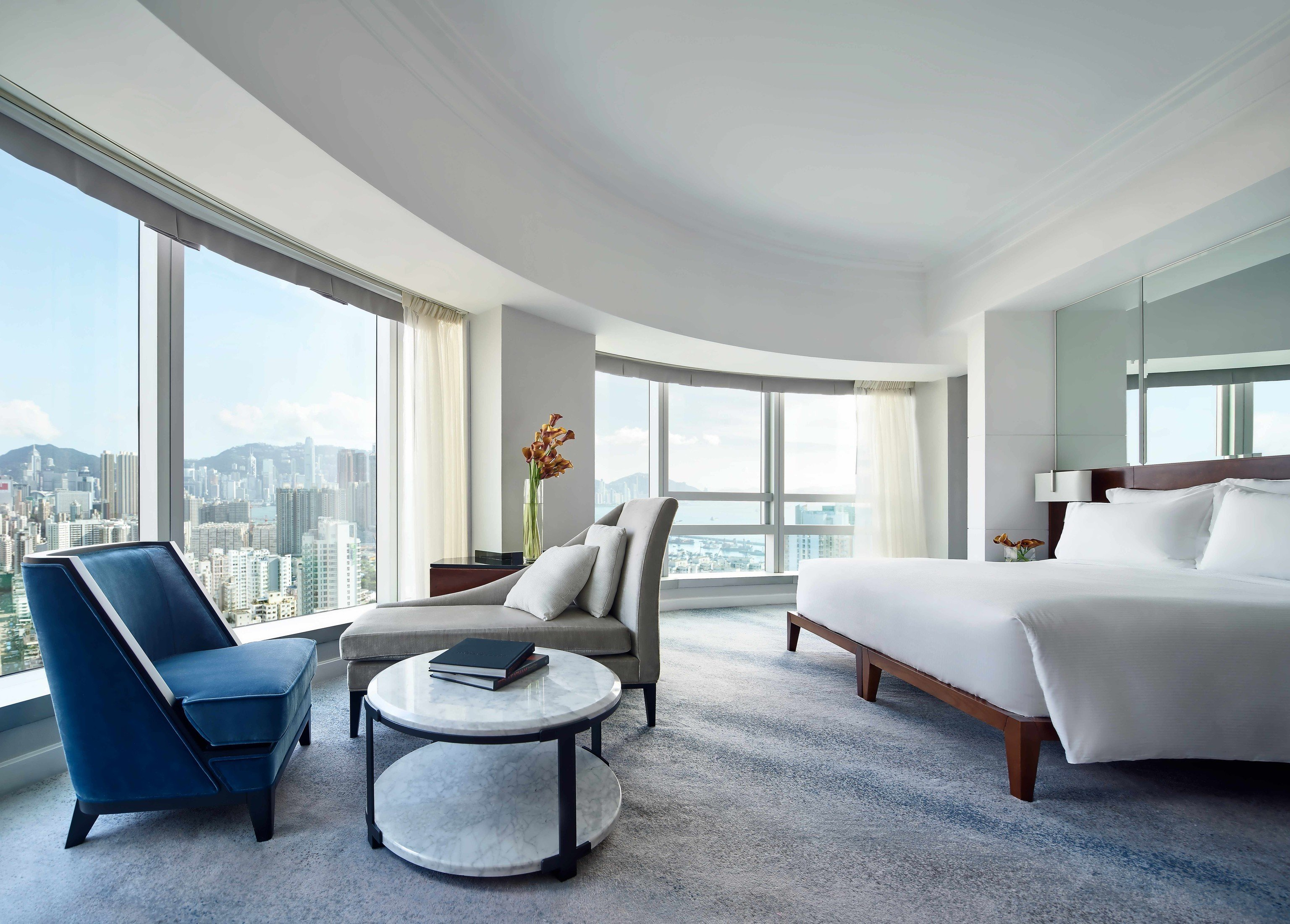 Hotels indoor floor ceiling window room sofa wall Living property furniture living room hotel Suite interior design condominium real estate home Bedroom estate Design apartment area several