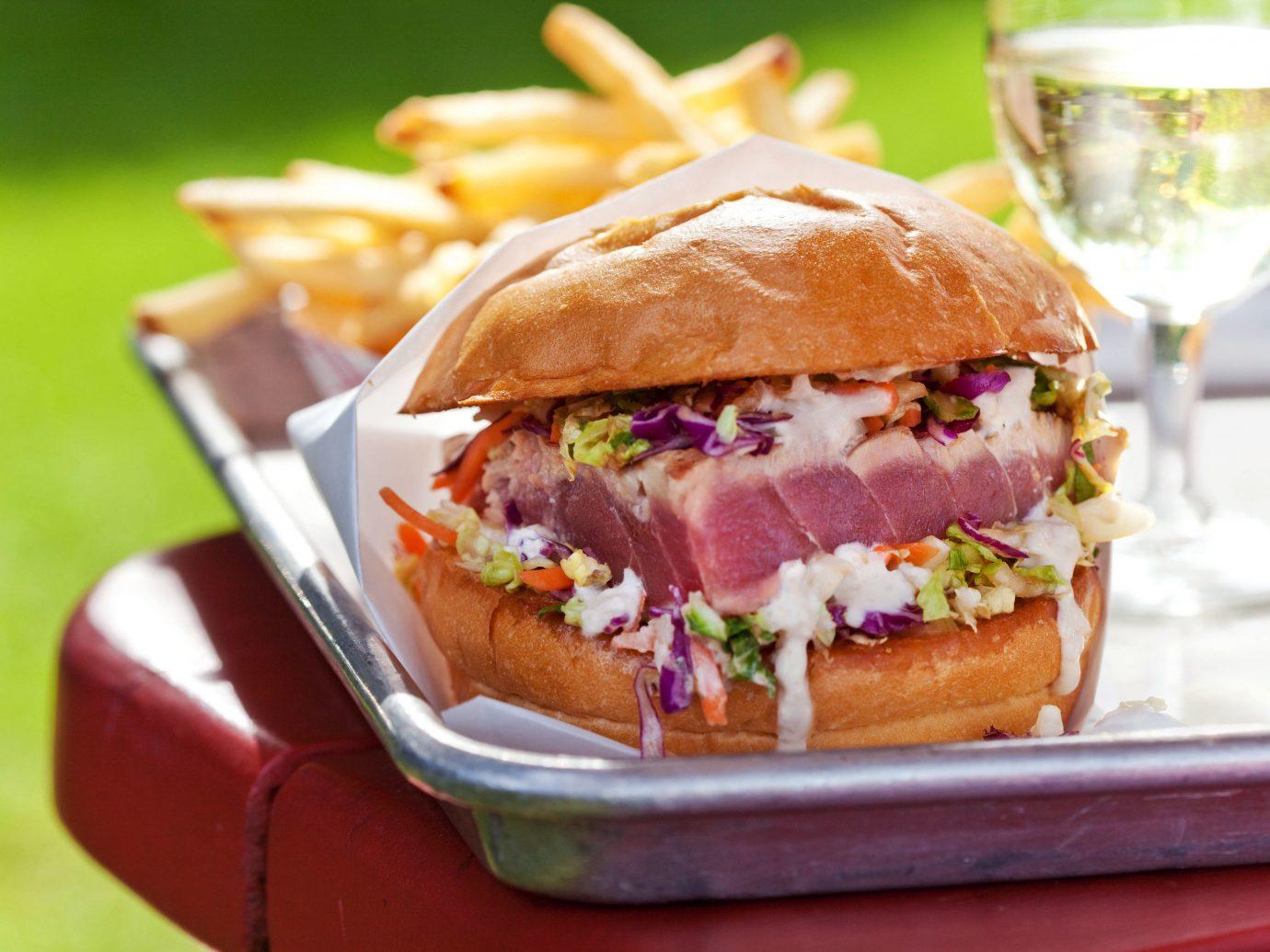 Food + Drink food dish sandwich snack food hamburger meat slider produce meal lunch cuisine breakfast fast food close