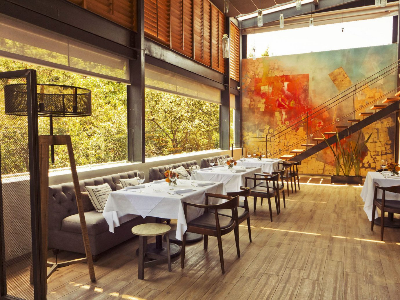 art artistic artsy Dining Elegant fine dining Greenery Hip Hotels Luxury regal restaurant sophisticated trendy view windows floor indoor interior design café meal estate real estate