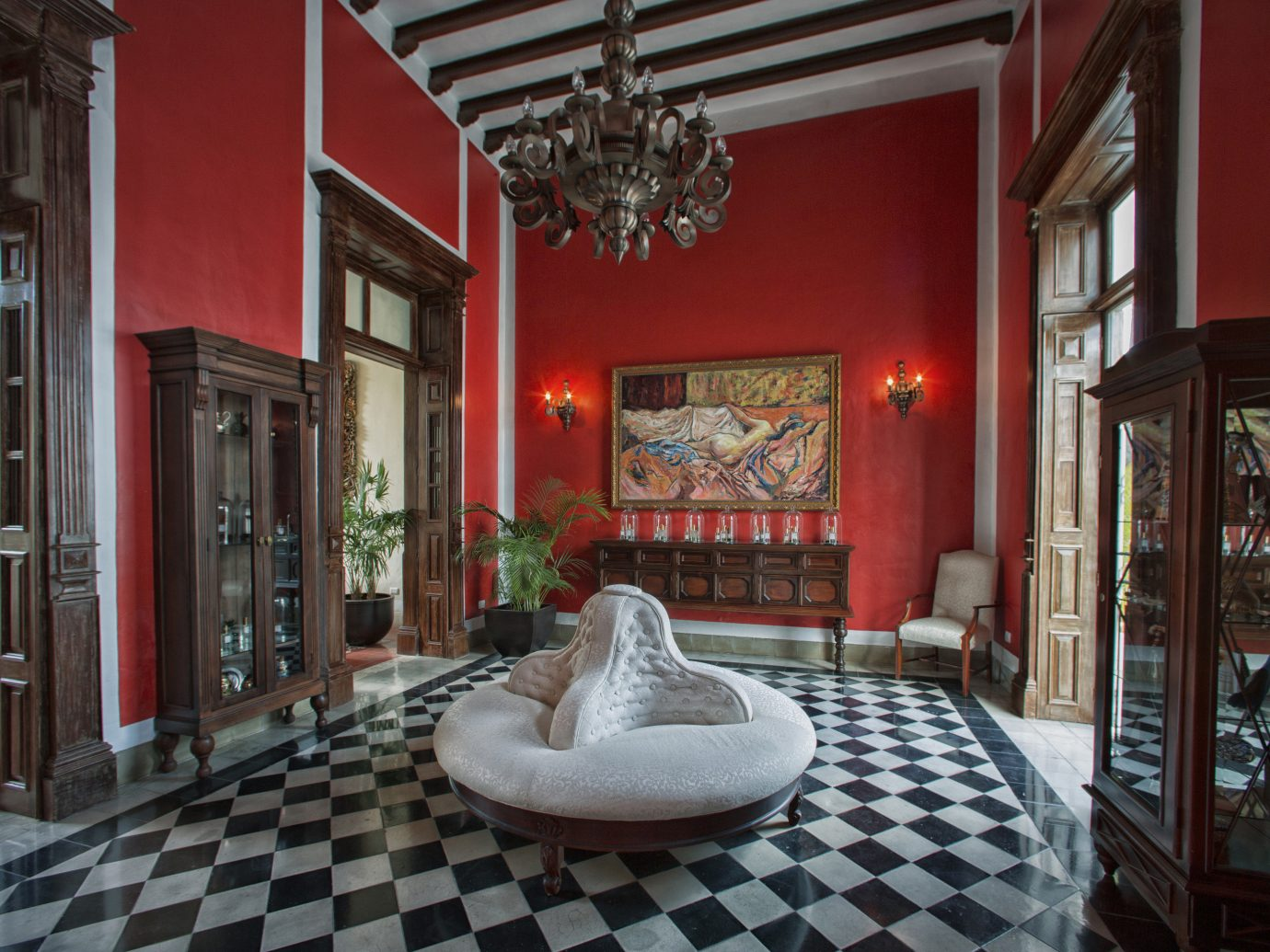 Trip Ideas property room Living Lobby building house estate home mansion red interior design living room palace flooring hacienda furniture decorated stone