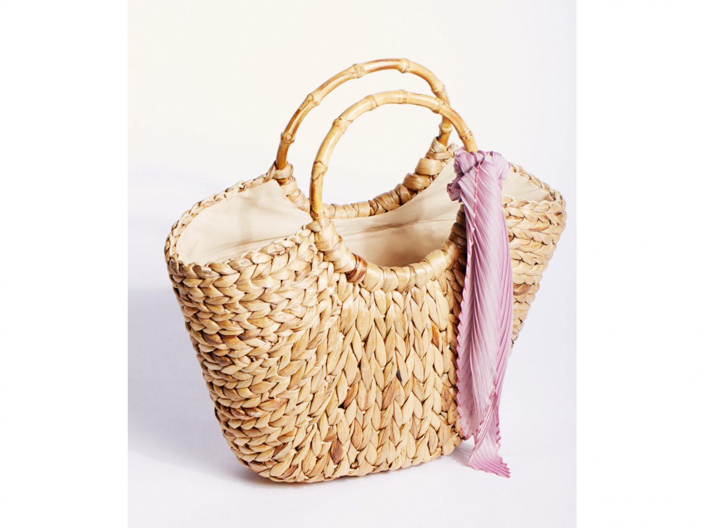 Style + Design handbag bag product footwear beige straw basket
