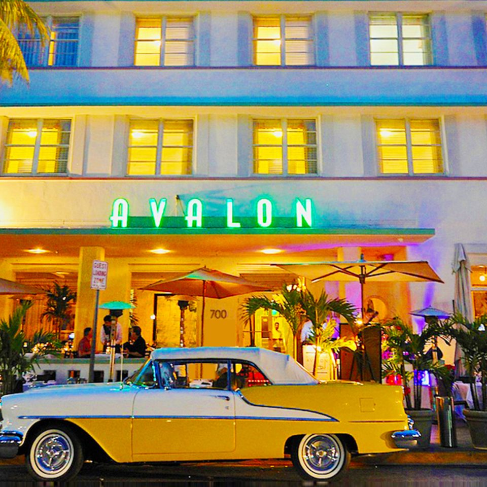 Exterior Of Avalon Hotel Miami Beach Fl