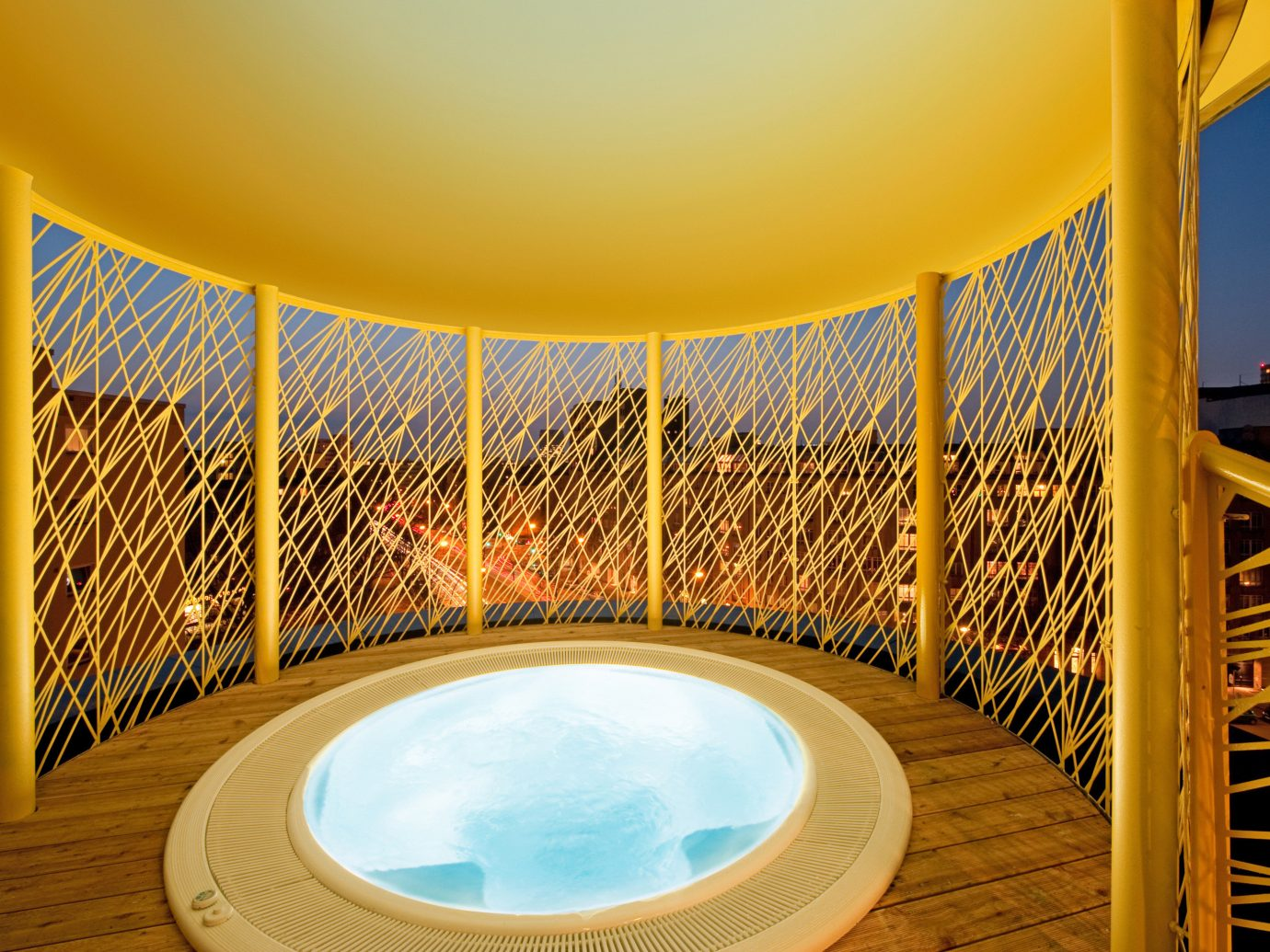 Adult-only Bath Boutique Hotels City Festivals + Events Hip Hotels Scenic views Trip Ideas Wellness chair outdoor leisure yellow room swimming pool interior design Pool estate Resort overlooking