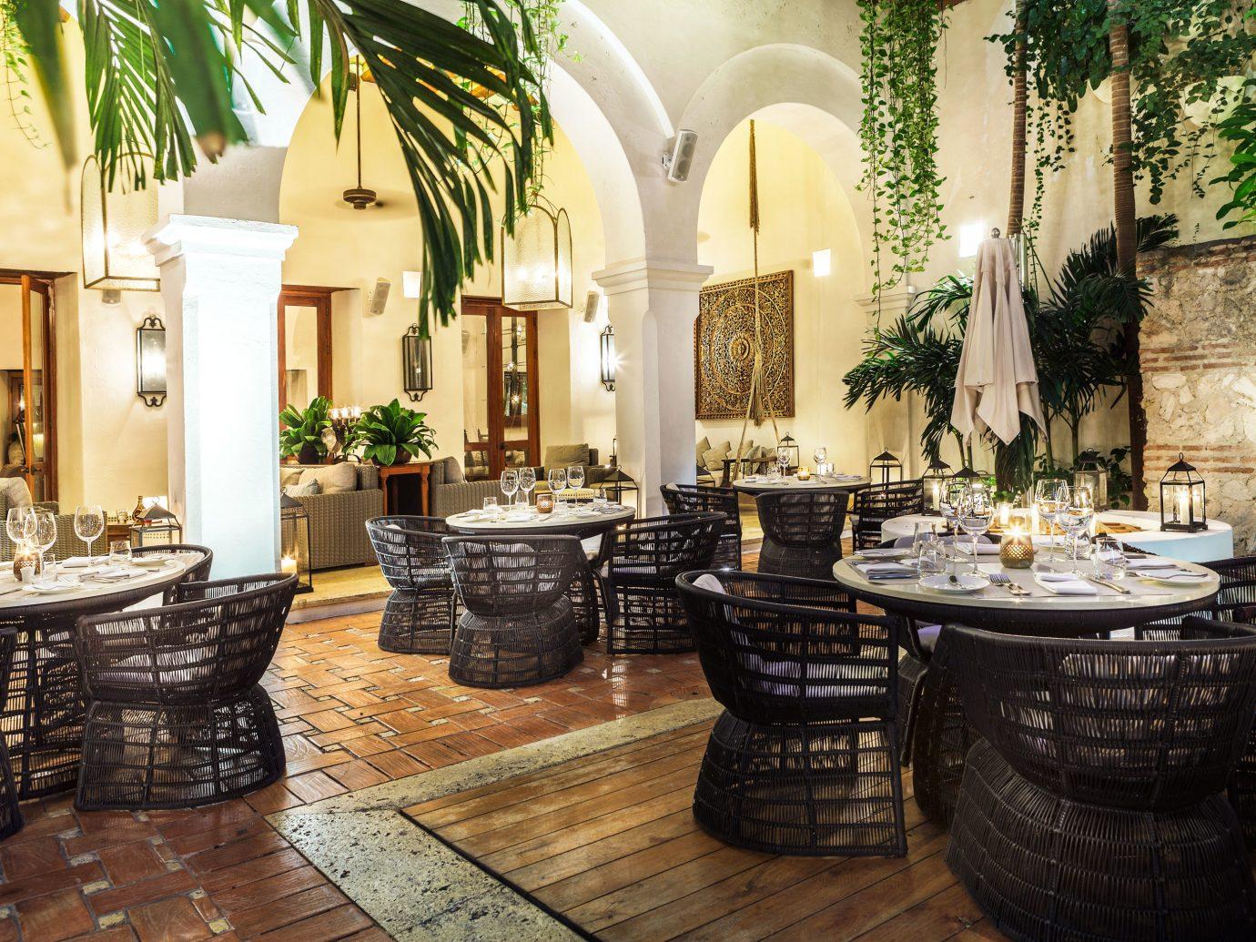 Design Dining Drink Eat Hotels Luxury Resort Romance Lobby property room estate meal home mansion living room interior design restaurant Villa stone furniture
