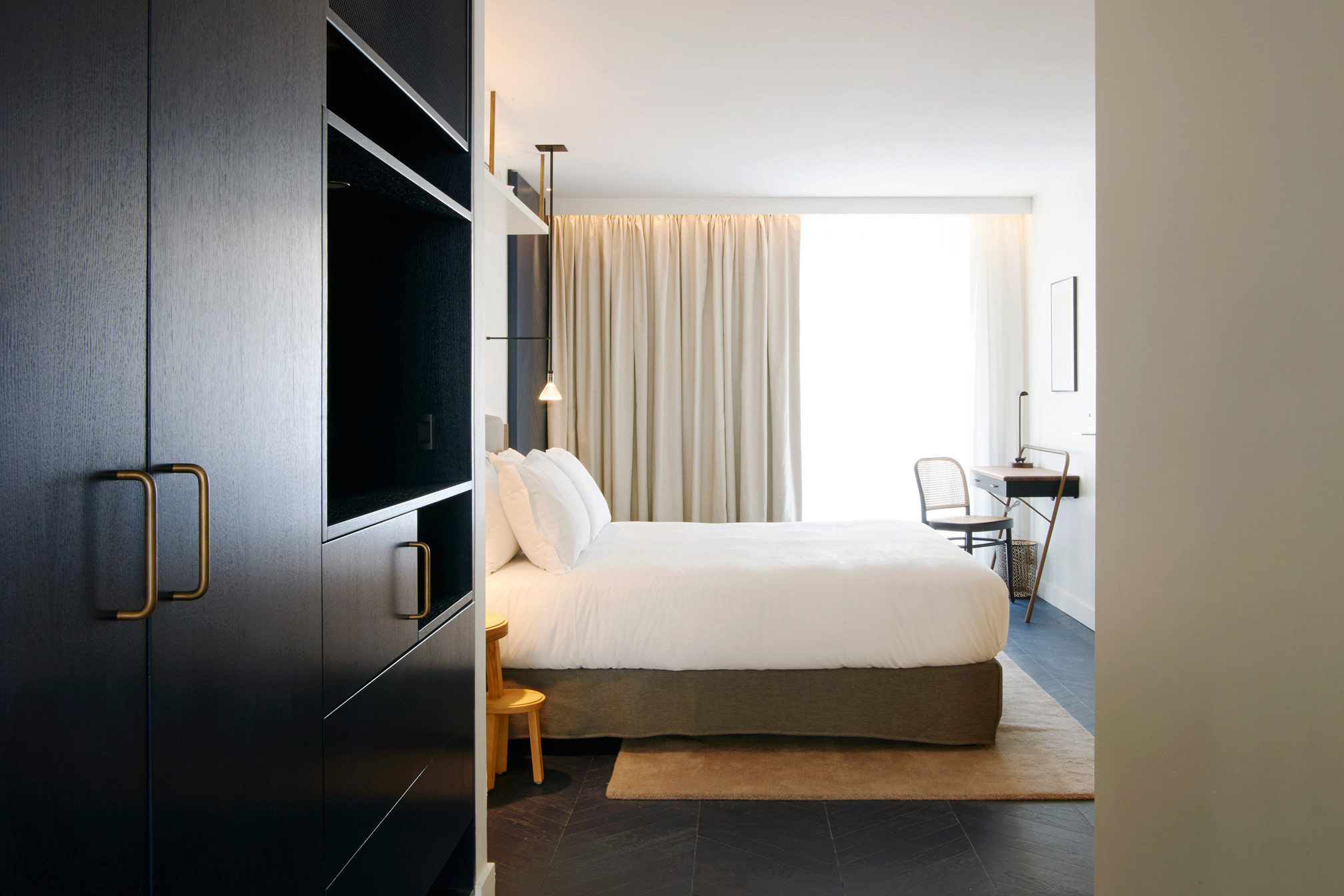 Hotels indoor wall floor room property Bedroom house bed interior design home furniture living room Suite Design real estate apartment