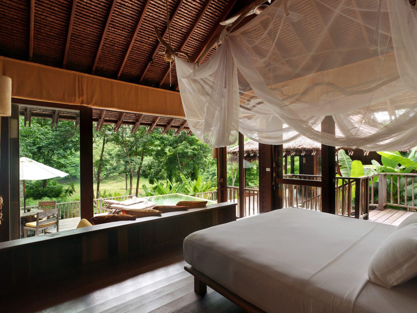 Beach Bedroom Hip Hotels Luxury Modern Phuket Romantic Scenic views Suite Thailand indoor floor property room Resort estate interior design Villa restaurant mansion furniture