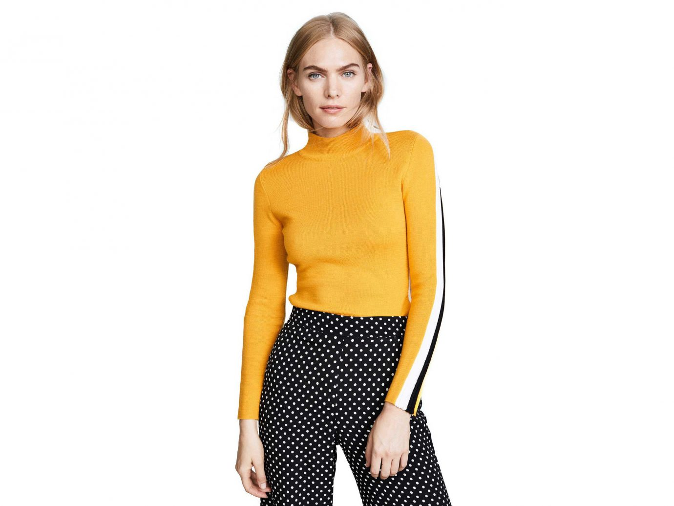 Style + Design Travel Shop clothing yellow fashion model shoulder neck supermodel sleeve joint waist pattern abdomen