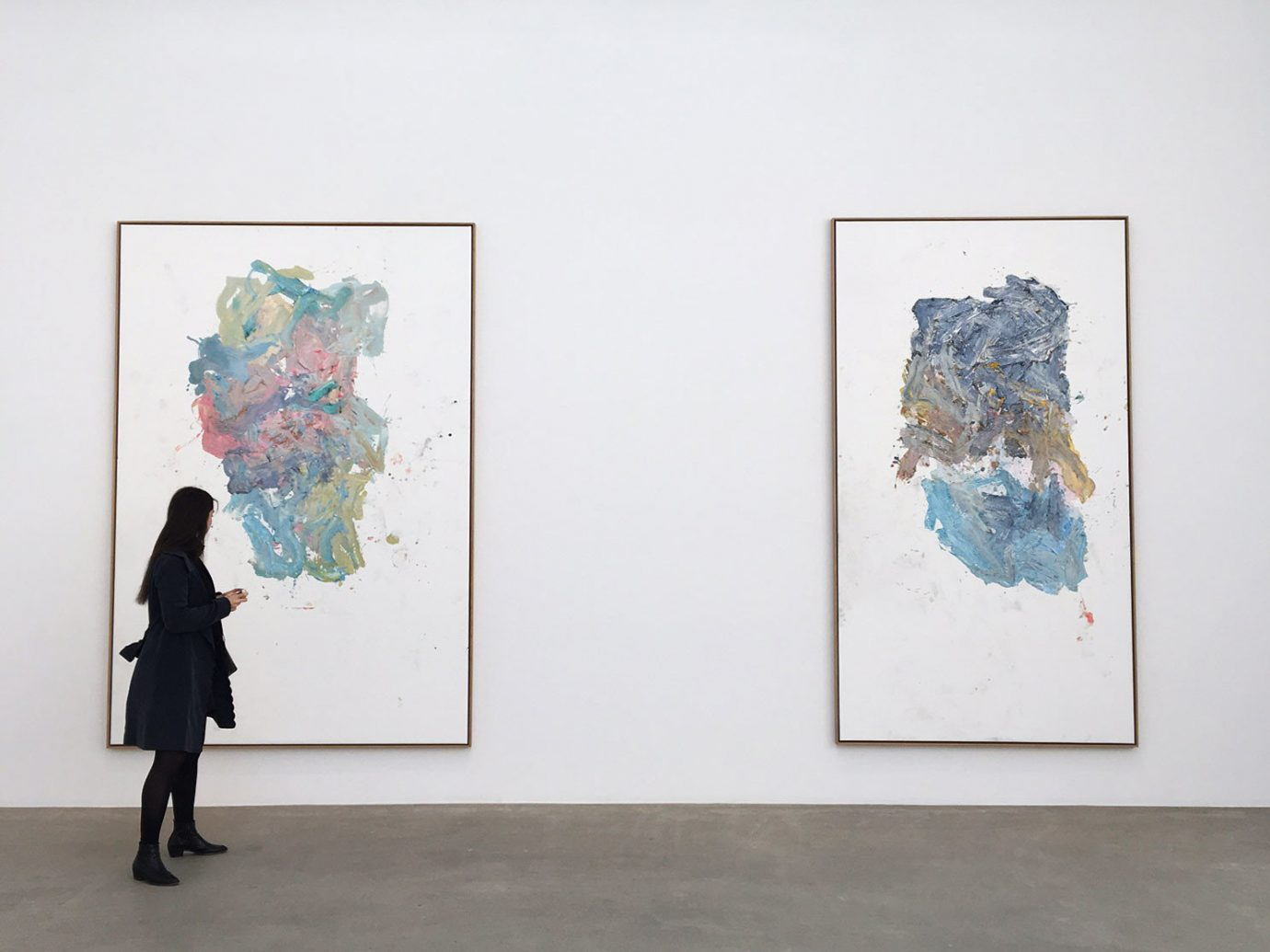 Paintings hanging in Galerie Thaddaeus Ropac
