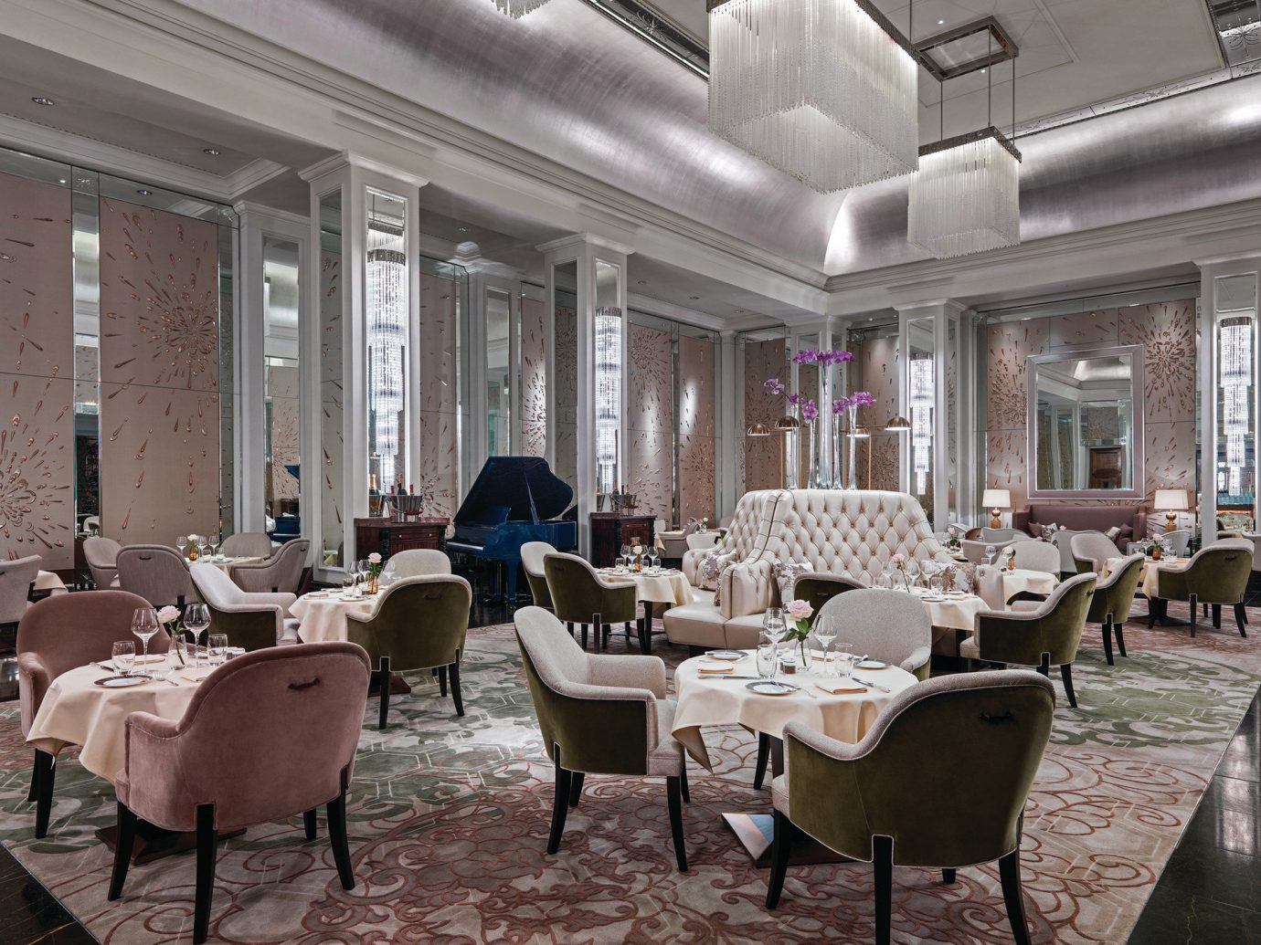 Hotels London Luxury Travel indoor floor window chair room restaurant interior design estate function hall meal dining room furniture Lobby living room Design ballroom several