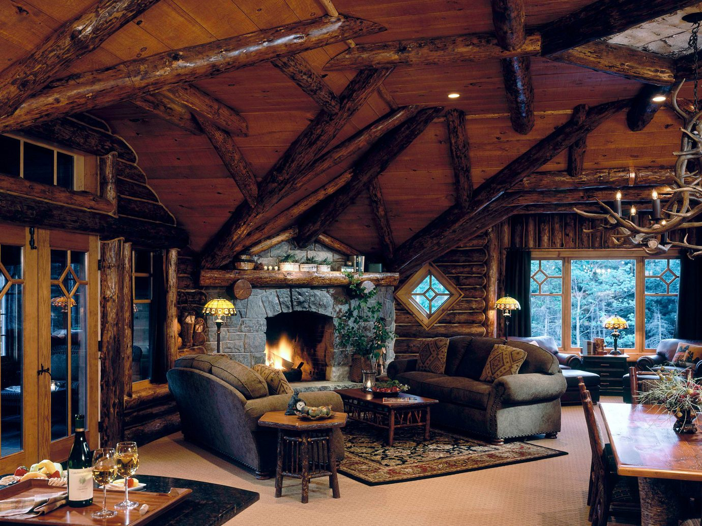 Hotels Living Lodge Lounge Luxury New York Romantic Romantic Hotels Rustic indoor ceiling room property building house estate living room home log cabin interior design wood cottage outdoor structure furniture area