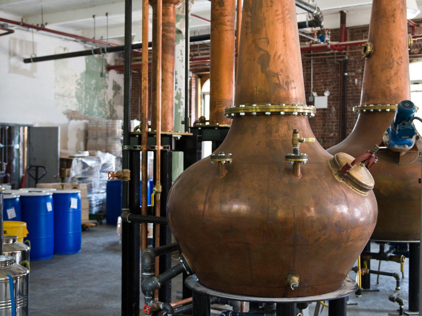 alcohol beverage Brooklyn distilled beverage distillery Drink Food + Drink industrial interior liqueur urban whiskey whisky factory industry