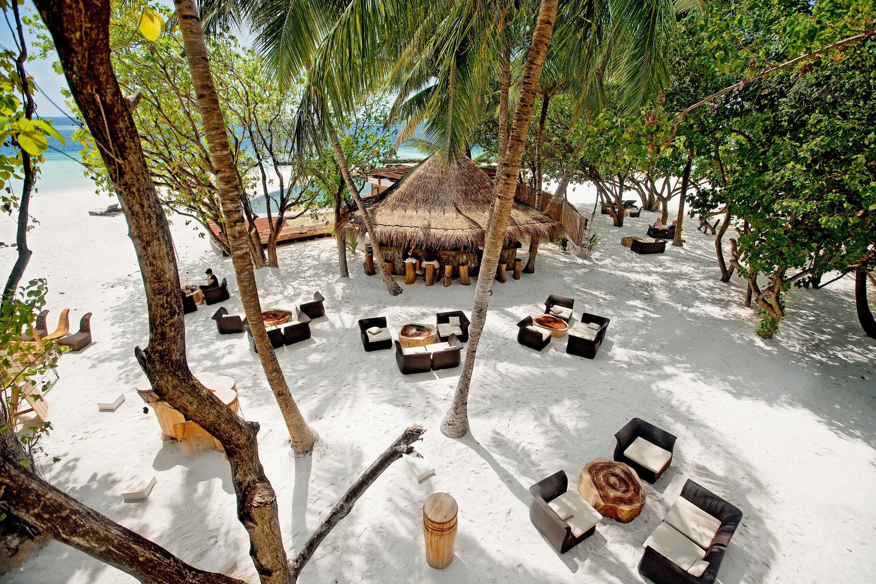 All-Inclusive Resorts Beach Beachfront Dining Grounds Hotels Island Lounge Luxury Luxury Travel Romance Romantic tree outdoor season Resort plant