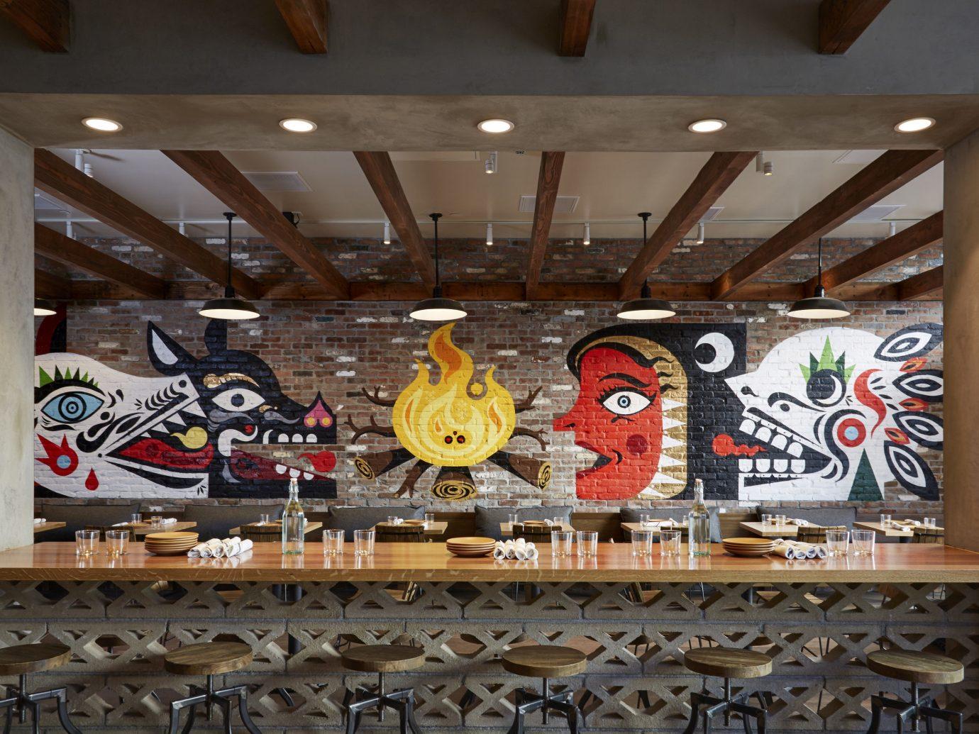 Jetsetter Guides indoor ceiling art mural street art