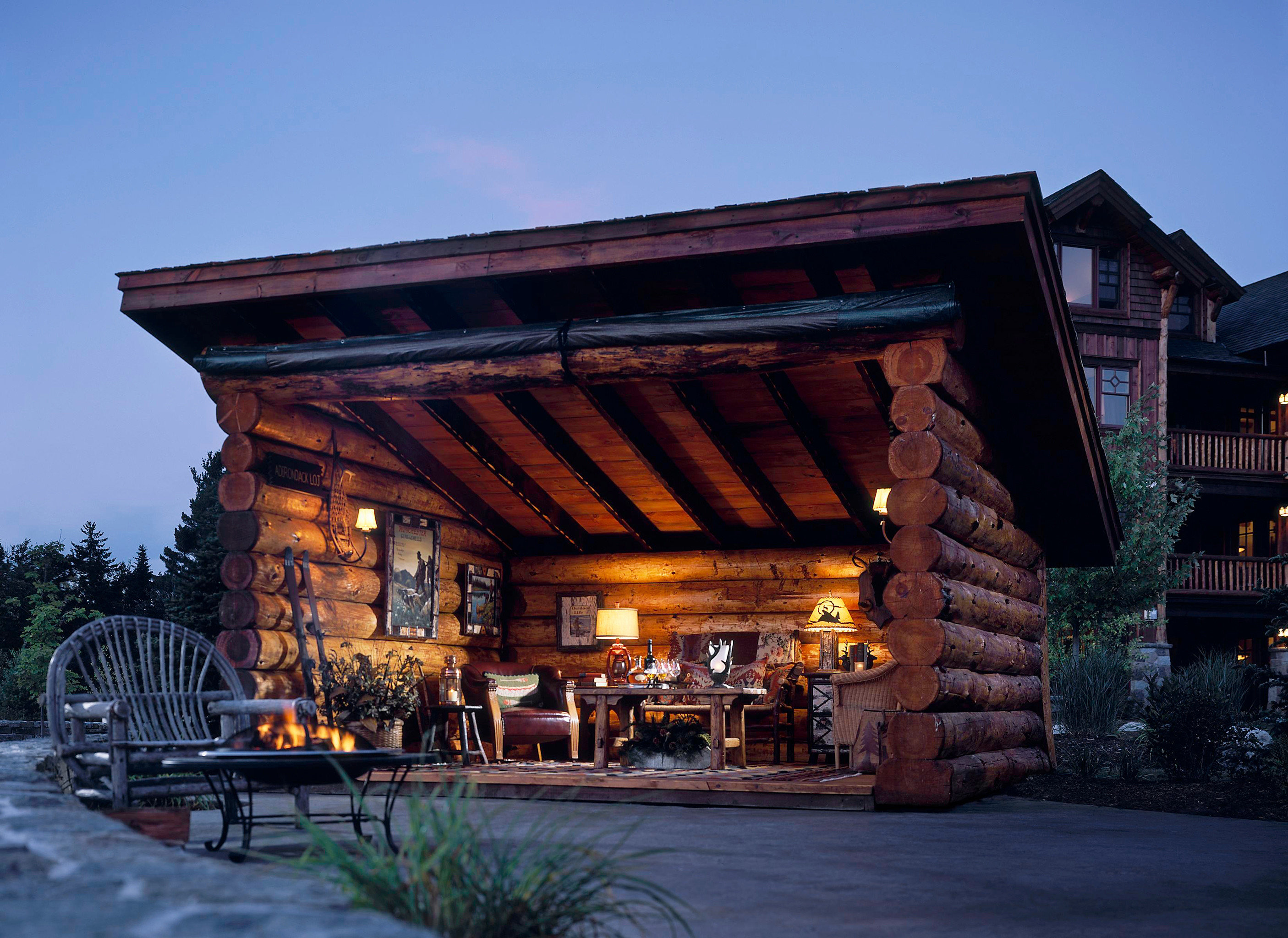 Architecture Buildings Design Exterior Grounds Hotels Lodge Mountains New York Romantic Hotels building outdoor sky house log cabin home estate wood outdoor structure