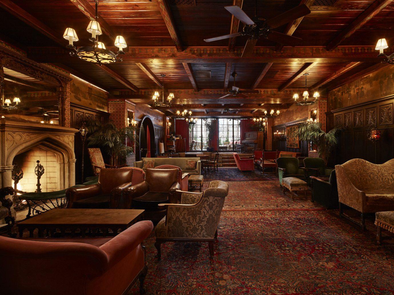 Celebs Hotels Trip Ideas indoor floor room ceiling interior design Lobby lighting living room home estate tavern furniture