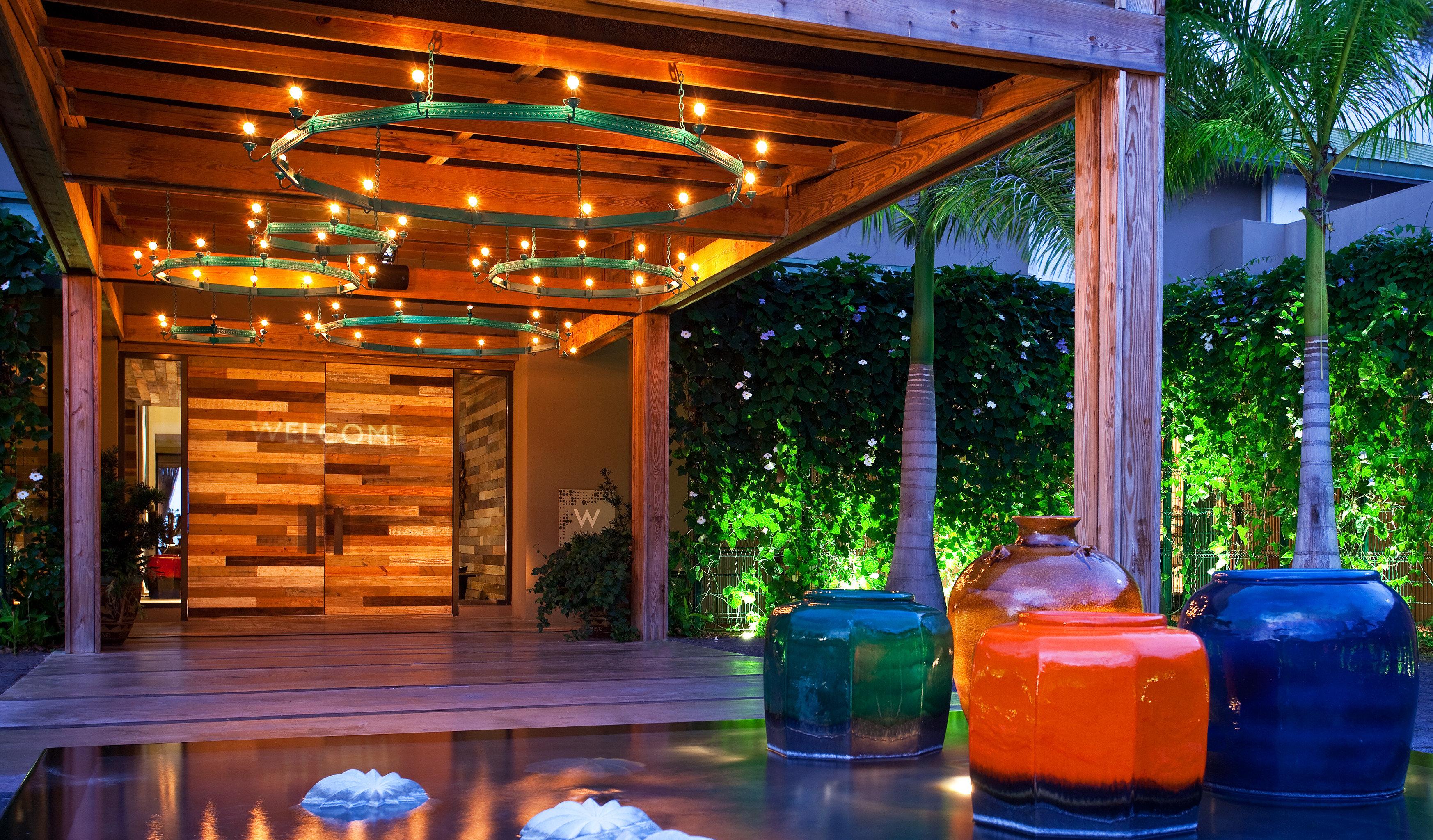 Design Hotels Lounge Modern Resort tree lighting estate