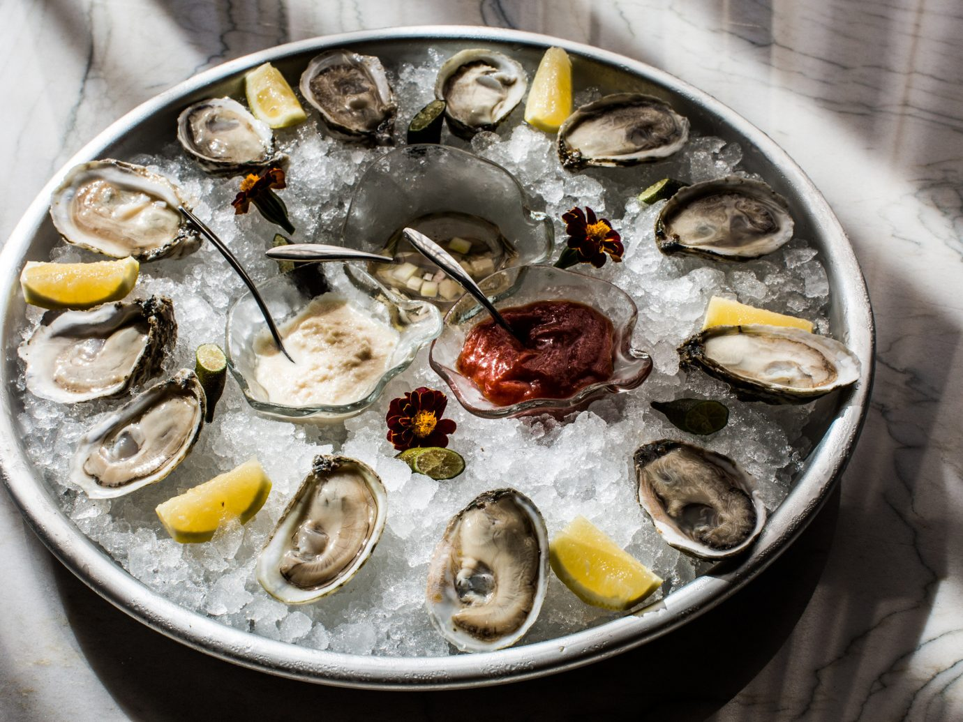 Food + Drink oyster Seafood food plate clams oysters mussels and scallops dish animal source foods clam recipe mussel