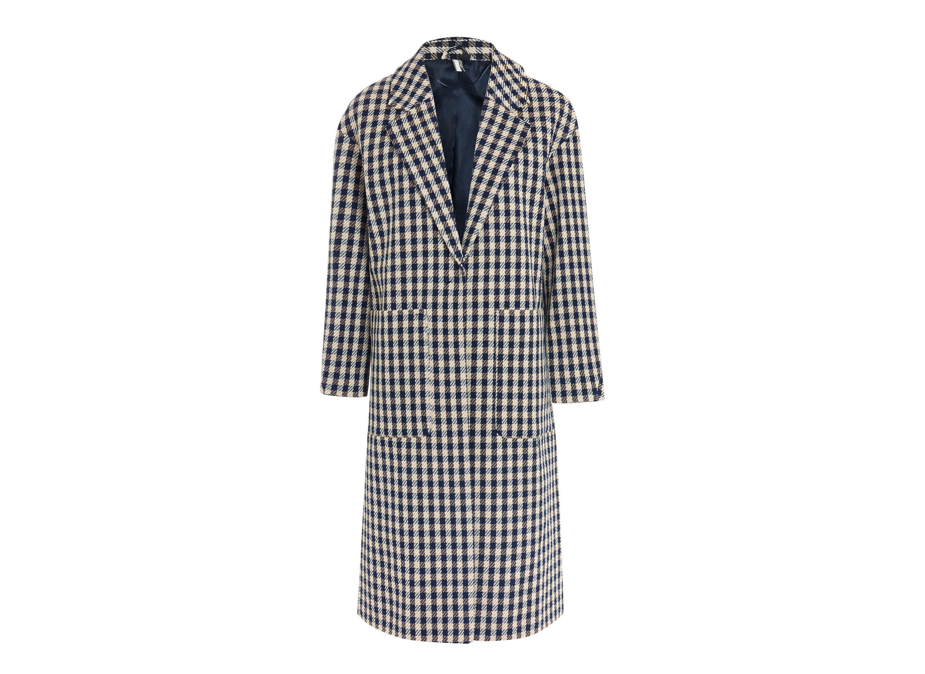 Travel Shop clothing day dress coat outerwear plaid dress pattern tartan sleeve robe nightwear overcoat