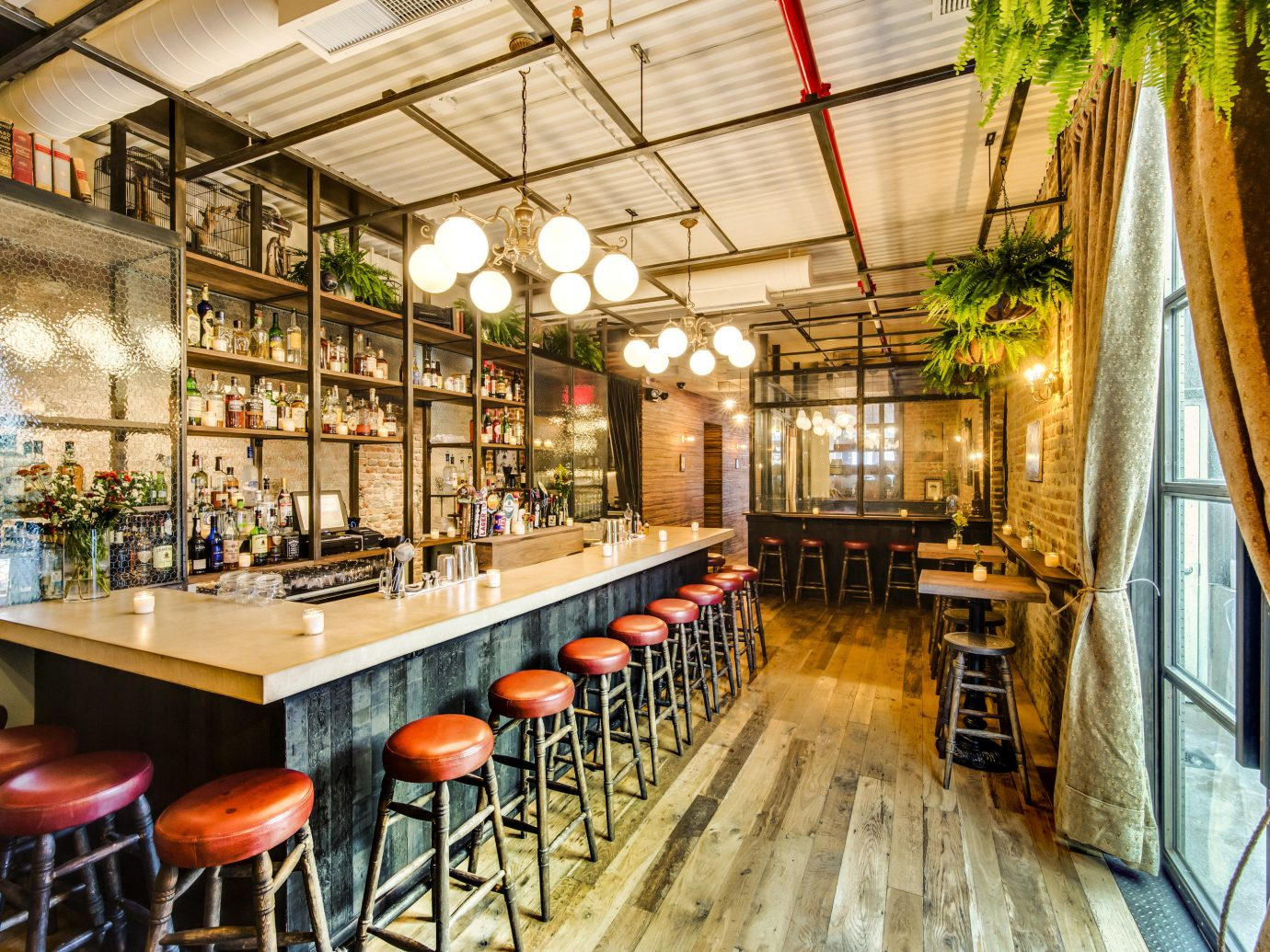 Food + Drink floor indoor restaurant interior design café Bar meal