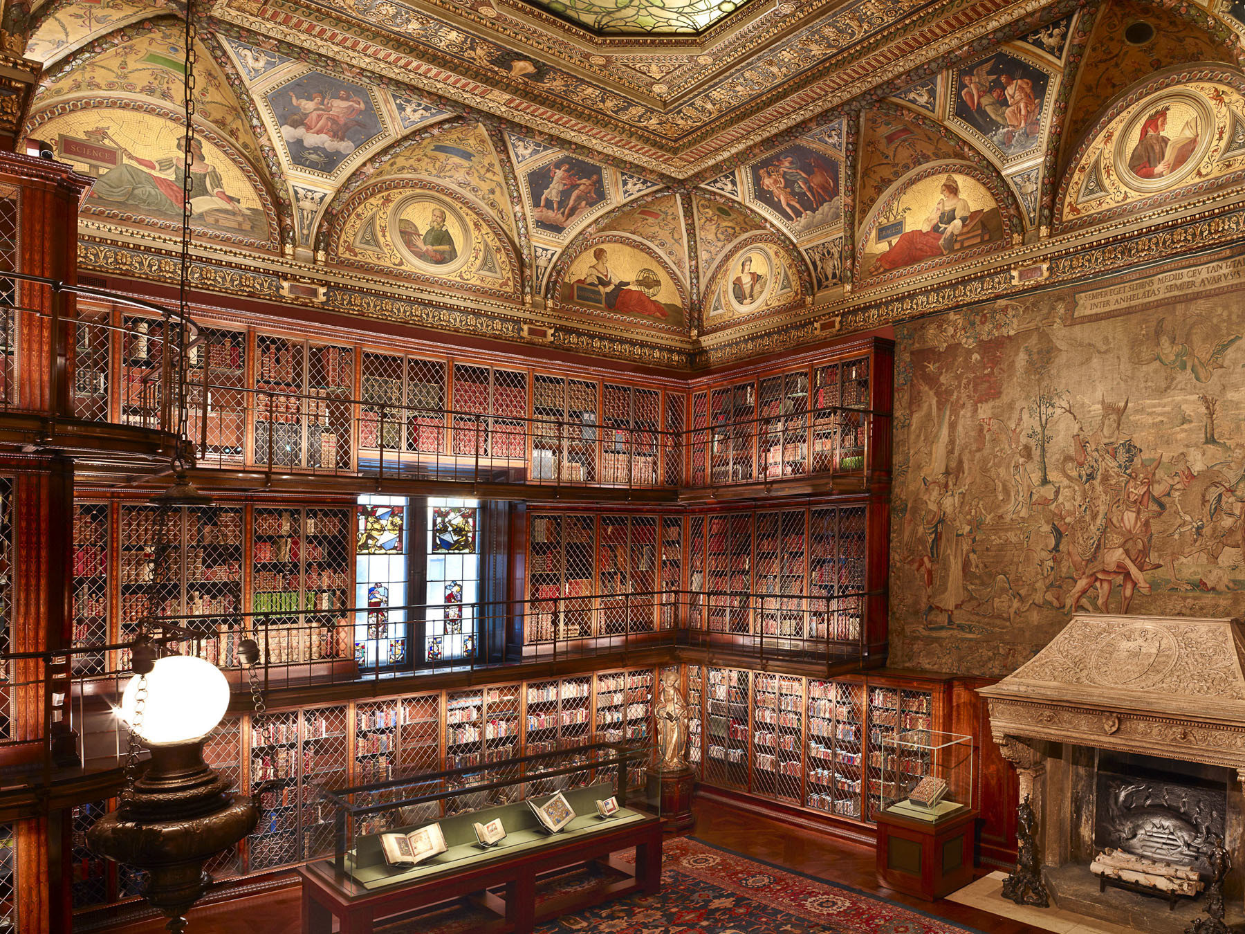 books bookshelf Budget museum stained glass tapestry indoor building ancient history interior design library several