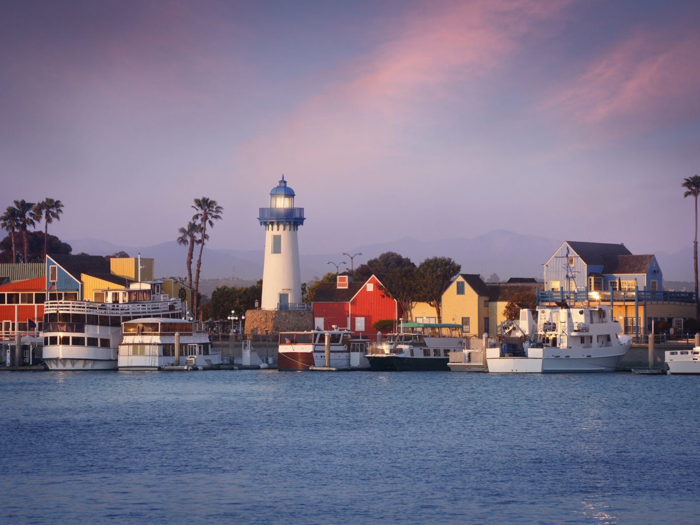 Offbeat sky outdoor water scene Harbor Sea City night horizon evening dusk cityscape vehicle vacation Sunset Ocean tower skyline reflection Coast passenger ship dock port waterway bay Island