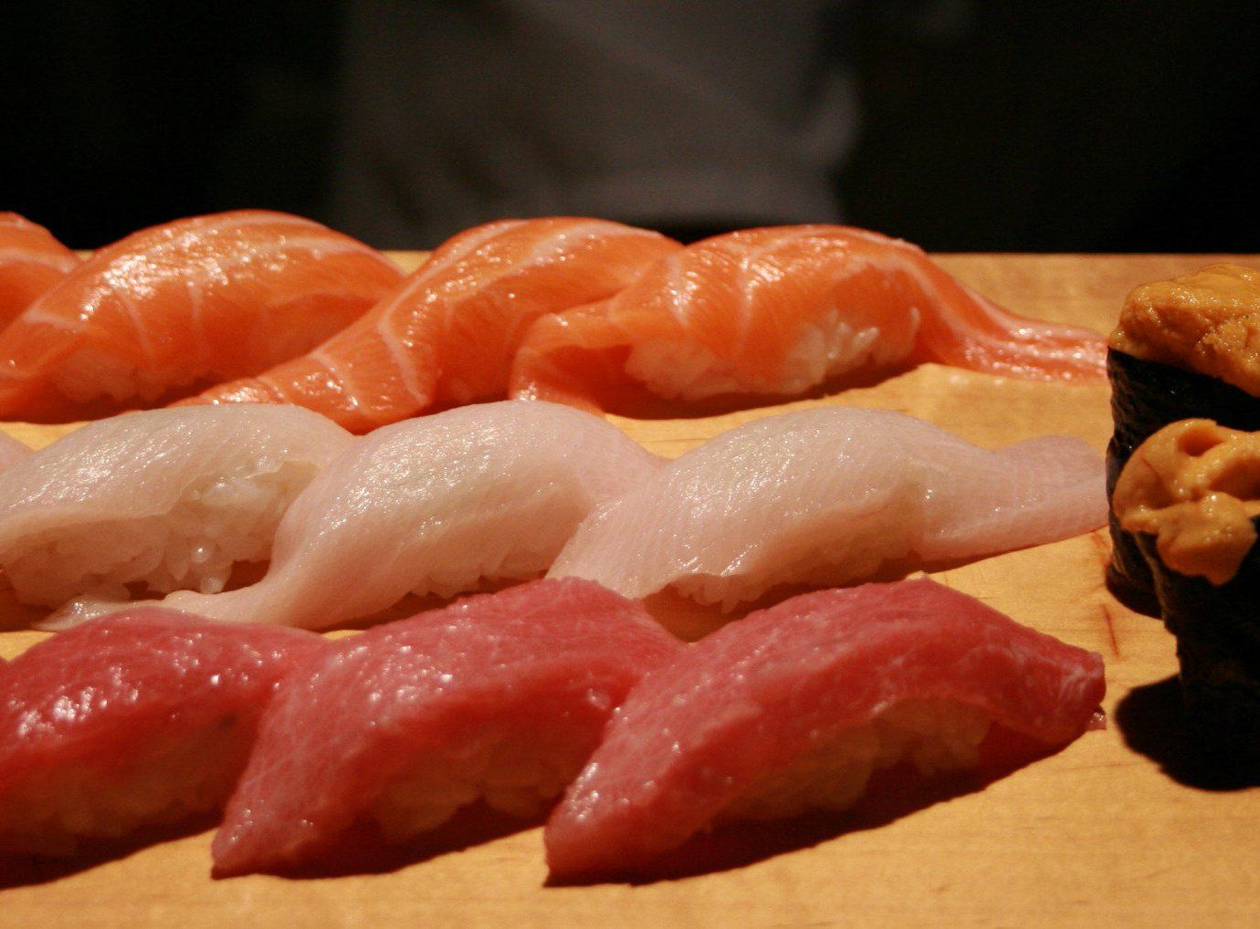 Travel Tips food indoor cuisine dish sushi japanese cuisine asian food sashimi kobe beef meat animal source foods comfort food