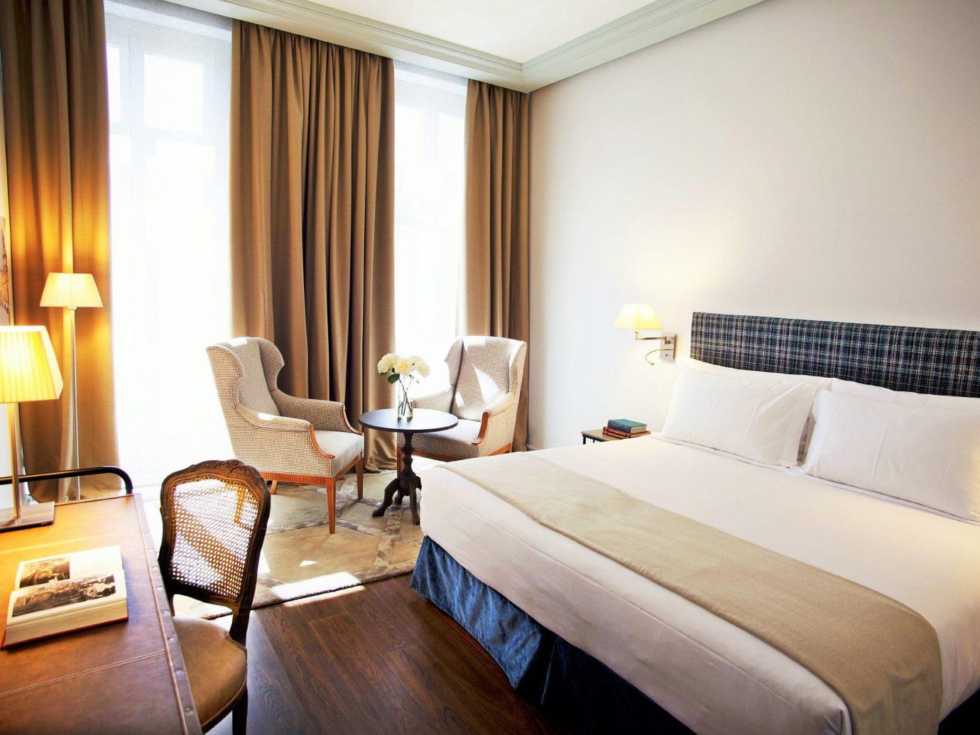 Bedroom Hotels Luxury Madrid Scenic views Spain Suite indoor wall bed room floor hotel sofa property window estate cottage real estate interior design condominium apartment lamp furniture