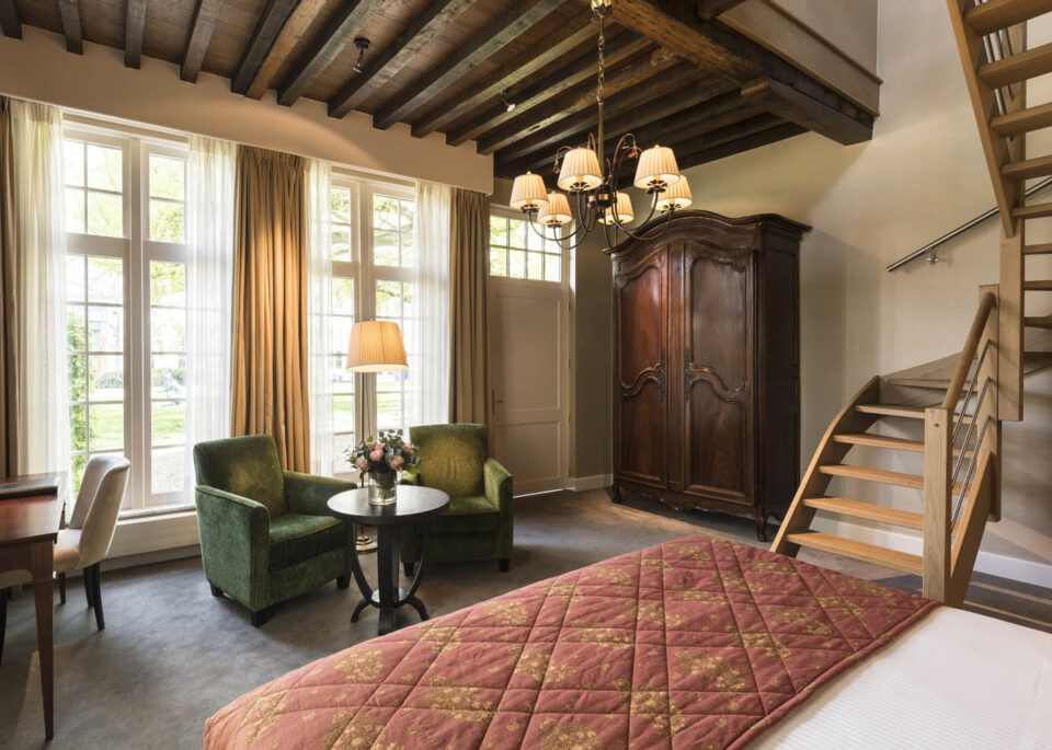 Bedroom at Dukes' Palace in Bruges Belgium