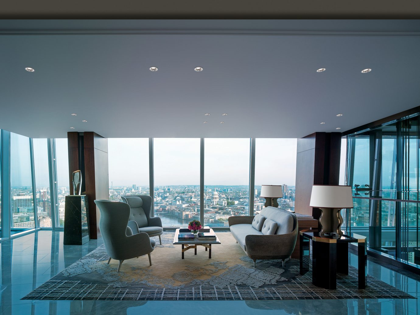 City Hotels Living Lounge Luxury Travel Modern Scenic views indoor room floor property ceiling condominium Architecture estate living room interior design swimming pool furniture lighting home daylighting Lobby Design dining room apartment window covering headquarters window area flat several