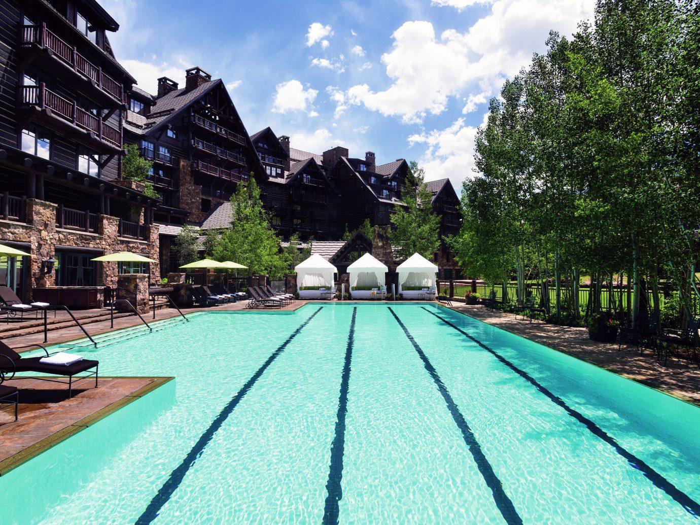 Buildings Exterior Play Pool Resort Trip Ideas outdoor sky tree leisure swimming pool estate vacation park amusement park